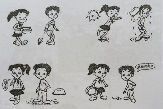 丢香蕉皮 小学二年级看图写话图片