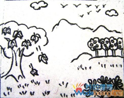 秋天到了_小学二年级看图写话_我的理想